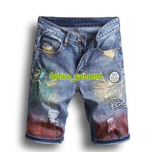 New Fashion Summer Jeans Mens Pants Mens Holes Denim Shorts Men Straight Slim Five Pants stylist Shorts