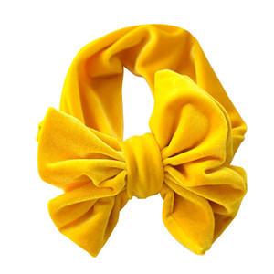 New Fashion 9colors Big Bowknot Fascia per capelli Baby fasce per capelli arco fascia per capelli bambini cotone T testa Wrap Accessori per capelli