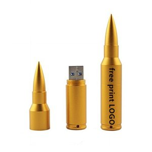 Usb Flash Disk Metal Kalem Sürücü Bullet Modeli Usb Çubuk 4GB 8GB 16GB 32GB 64G 128g Memory Stick USB 2.0 Ücretsiz Özel Logo Pendrive