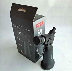 선물 상자 정직한 리필 풍선 금속 조정 가능한 화염 방풍 부탄 제트 1300 토치 라이터 없음 가스 주방 도구를 흡연