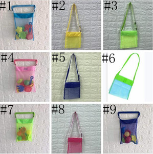 Kids Beach Mesh Bag Shell Storage Net Bag Adjustable Straps Tote Toy Mesh Outdoor Handbag Folding Baby Child Beach Storage Bags ALSK121