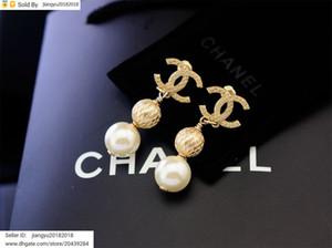 Cadeau de Noël Nouveau diamant Boucle d'oreille couleur arc-en-cristal métal perle bijoux avec la boîte