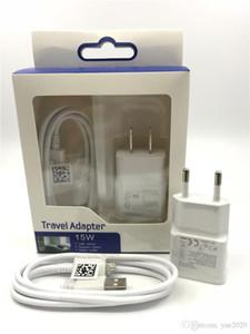 Top qualité Chargeur adaptateur 5V 2A Accueil Voyage adaptateur + 1M Micro Câble USB 2 en 1 Kits Chargeur pour Samsung S8 Note 8 HTC