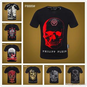 Meilleur 19SS drôles hommes t-shirt crâne imprimer hip hop t-shirts hommes street wear hommes t-shirts haute qualité oversize homme amérique vêtements