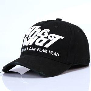 DSQICOND2 Baseball Algodão Caps ICON Cartas de alta qualidade Homens Mulheres Cap Projete Logo ICON Bonnet Homme Black Hat Cap Dad Hat