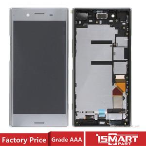OEM для SONY Xperia XZ Премиум XZP LCD сенсорного экрана Digitizer с рамкой Полной замены деталями с клеем,