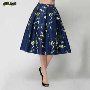 Sexy Print Floral Midi Wickelrock Frauen Mode Lässig Blau Plus Größe Langen Rock Weibliche Sommer Dünne Streetwear Festival Kleidung