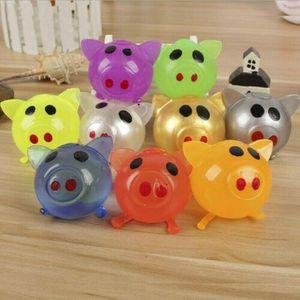 Jello Pig Carino Anti Stress sfera Anti Stress decompressione Splat Vent giocattolo sfiato Sticky Splat Merce vari tipi Pig Toys