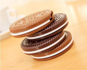 Tarak Makyaj Araçları 2 renk i gibi olan Japonya Stili Mini Sevimli Kakao Çerezler kompakt ayna cep taşınabilir el aynası