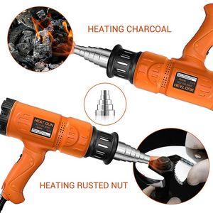 1800W Electric Industrial pistola de aire caliente termorregulador Heat Guns pantalla LCD Compactar la herramienta eléctrica térmica de envolver