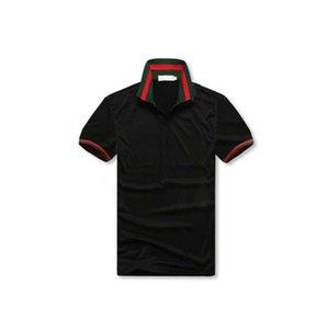 2020 Nova Estilista Mens Camisas Pólo Verão Pólo De Luxo Camisa De Pólo Mensa Folgada Carta Listrada Impactada Moda Camisa De Marca Estilo Casual