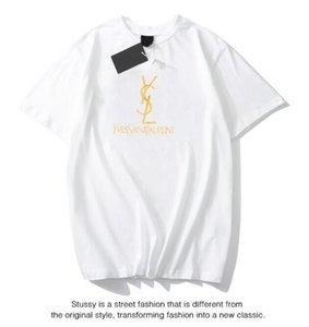 Una mejor calidad de la nueva del verano de las mujeres a estrenar del 100% camisetas de algodón a cuadros Moda corto Sleece O-Cuello de las señoras camiseta de las tapas de las camisetas de las mujeres Negro Blanco