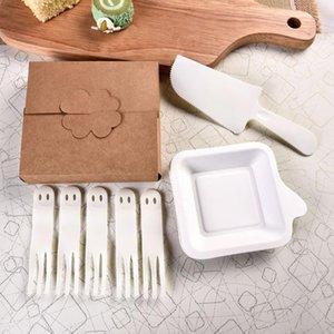 Couteau de vente Hot gâteau et une fourchette Birthday Set, Fourchette, Assiette de fruits Combinaison boulangerie fournitures Vaisselle Jetable Paquet individuel