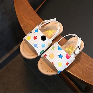Girls Princess Shoes Sandals 2020 Baby Non-slip Soft Toddler Shoes Children Beach Plaid Printing Shoes 2020 Hot Sell
