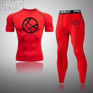 Men's Compression Sportswear Suit GYM Tight Strange Clothes Gym Yoga Suits jogging Sports clothing Tracksuit