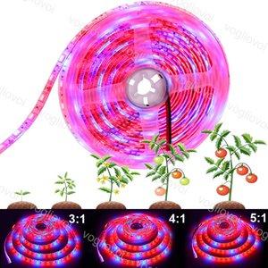Kapalı Sera hidrofonik Bitki EUB İçin Su geçirmez Işıklar Tam Spektrum LED Şerit Işıklar 5M / Rulo 300 LED'ler 5050 Çip Fitolampy büyütün