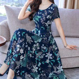 Yaz Elbise Kadınlar Yeni Moda Plajı Elbiseler Grace Maxi Kısa Kollu Baskı Uzun Elbise Parti Elbise Şık vestidos