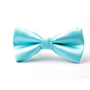 cor turquesa sólida curva azul Laço de borboleta laços para homens pretied gravata 2020