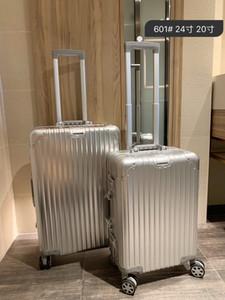 valise en alliage d'aluminium de haute qualité PC matériau anti-usure verrouillent douanier TSA épaissies coin grande capacité Voyage cas air cas 24 pouces