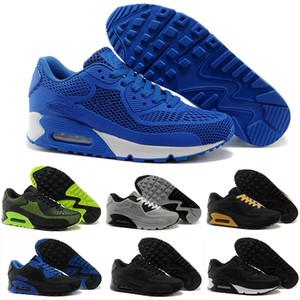 Max 90 90 Nueva Running zapatos del amortiguador KPU mujeres de los hombres de alta calidad de las zapatillas de deporte barato Todo Negro Chaussure Homme Calzado deportivo