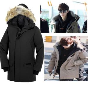 18 Kanada tutun Sıcak Kalınlaştırıcı Soğuk Uzun Kendinden yetiştirme Adam ceketin bir erkekler kış ceketler Gevşek Ceket Palto monclair mens Kaz Tüyü