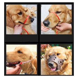 1PC Adjustable Leather Dog Muzzle Anti Bark Bite Chew Dog Training For Small Medium Large Dogs Outdoor Masks Pets Accessories
