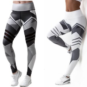 Splice Print High Waist Leggings Sport Women Fitness Tight Athletic Trousers Push Up Work Out Yoga Pants