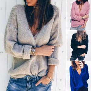 Women Long Cardigan Loose Coats Long Sleeve Knitted Outwear Jacket Coat Tops Autumn Fashion Women Coat