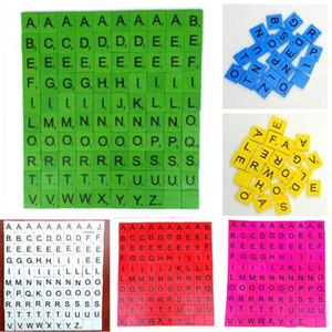 İngilizce mektup Ahşap Alfabe Scrabble 100pcs büyük Renk İngilizce alfabe okuryazarlığı erken eğitim entelektüel gelişim / set