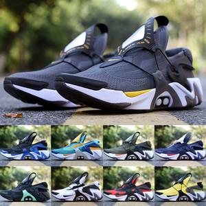Nike Adapt Huarache Laufschuhe für Männer Brandneueste schwarze Aurora Green Racer Blau Opti Gelb Hyper Jade Herren Outdoor-Trainer Größe 7-11