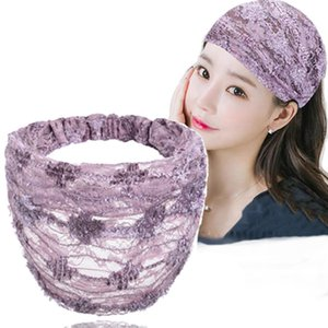 Lace Wide-Brimmed Hair Band Female Cover Gray Hair Headgear Korean Fashion Mori Girl Line Face-Washing Headband Fixer
