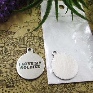 40pcs - «I Love My Soldier» прелесть нержавеющей стали больше стиля для выбора DIY очаровывает подвески для ожерелья