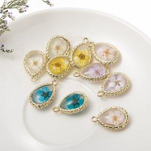 Handgemachte Mehrfarben trockene Blumen aus Glas Halskette Jahrgang hochwertige getrocknete Blume Halskette für Frauen Schmuck Geschenk