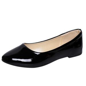 여성 신발 여성 발목 플랫 로퍼 2020 여자 신발 플랫 새로운 무리 로마 캐주얼 신발에 슬립