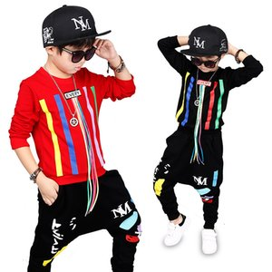 Abbigliamento per bambini Ragazzi Set sportivi Pantaloni hip-hop Felpa 2 pezzi Abito Abiti natalizi Autunno Bambino Manica lunga Abbigliamento per la casa XD21076
