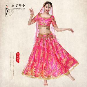 Odin Narelle Belly Dance Inde Sari Vêtements Femme Bollywood Dance Performance Venez Servir Costume
