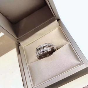 Lüks Serpenti Klasik Tasarımcı S925 Gümüş Tam Kristal Yılan Şekli Açık Halka İçin Kadınlar Takı