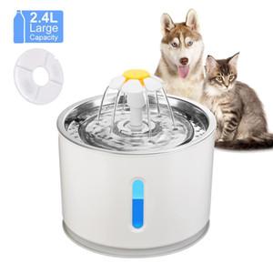 Otomatik Kedi Çeşmesi Hayvan İçme Su Sebili Elektrik LED Köpek İçme Çeşmesi Kedi Besleyici İçecek Filtre USB Powered