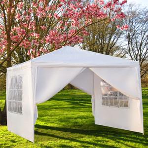 10x10Ft fiesta de la boda al aire libre Patio tienda de campaña cubierta Heavy Duty 3 x 3 m cuatro lados portátil a prueba de agua Gazebo Pabellón de eventos con Espiral