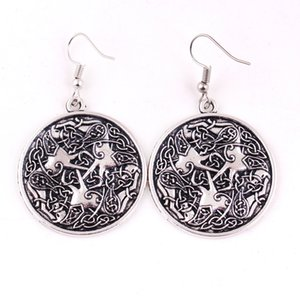 HY120 Viking style cheval forme talisman pendentif boucles d'oreilles nordique cheval cheval équine amulette boucle d'oreille femal pour bijoux en gros