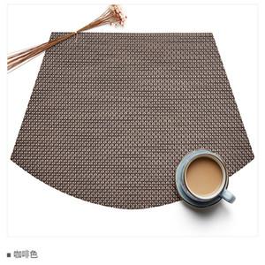 Prevenga el resbalón a prueba de agua mantel aislante térmico ventilador en forma de mesa estera de plástico urdimbre trama tejer esteras Eco Friendly 4 47xj L1