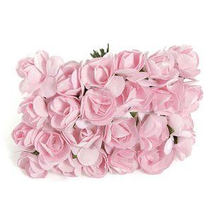 144pcs Mini Petite Paper Artificial Rose Buds Flowers DIY Craft Wedding Decor Home Red Pet Supplies Home Garden