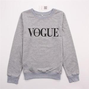Hirsionsan nuovo autunno maglietta felpata dei Hoodies Donne Vogue Stampato divertente con cappuccio Harajuku manica lunga Pullover signore parti superiori casuali più il formato S-XL