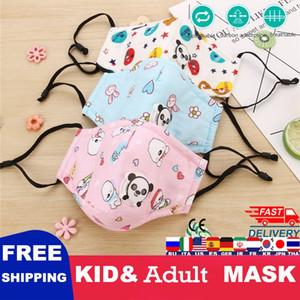 Sevimli Maske Baskı Pembe Karikatür Unicorn Yüz Maskeleri Yetişkin Koruyucu PM2.5 Yeniden kullanılabilir Kumaş Sevimli Ağız Kapak Yıkanabilir Maske