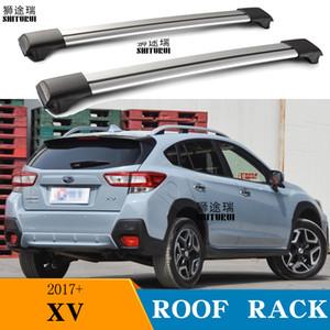 XV SUV 2017 2018 알루미늄 합금 측 2PCS 지붕 바는 크로스 레일 지붕 물품 CUV SUV LED 랙 바