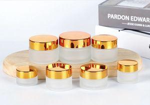 Cream Bottle Eye Cream Face Cream Foundation Ointment Loose Powder Eyeshadow Round Glass Jars Pot 5g 10g 15g 20g 30g 50g 100g EEA1186