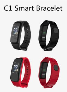 New C1 Smart-Band Fitness Tracker Sport-Monitor Smart-Armband IP67 wasserdichte Sedentary Remind Armband 6 Farben Strap