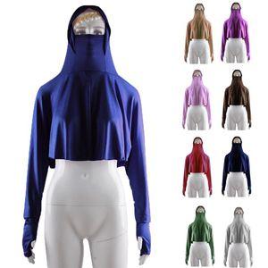 One Piece islamique Femmes Veil Hauts PARFAITEMENT Hijab capuche Burqa arabe musulman Niqab Chemisier à manches longues Modestie Moyen-Orient