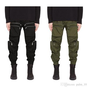 representclo mens multi pockets cargo pants Velcro tape streetwear military represent Elastic Waist long trousers hiphop fashion