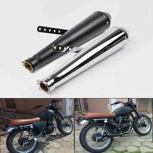 SR400 escape retro de la motocicleta silenciador de tubo de 38 mm 40 mm 43 mm 45 mm Modificado cola de escape Sistema Para CG125 GN125 CB400SS